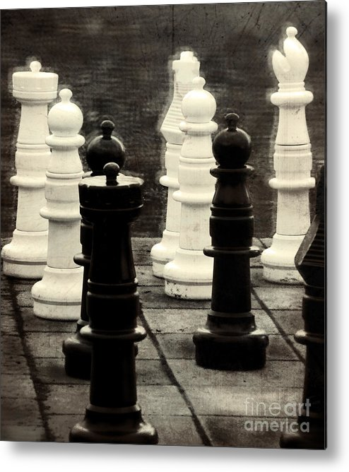 Chess Metal Print featuring the photograph Your Move by Colleen Kammerer