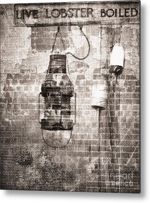 By The Sea In Brown Metal Print by Betty LaRue