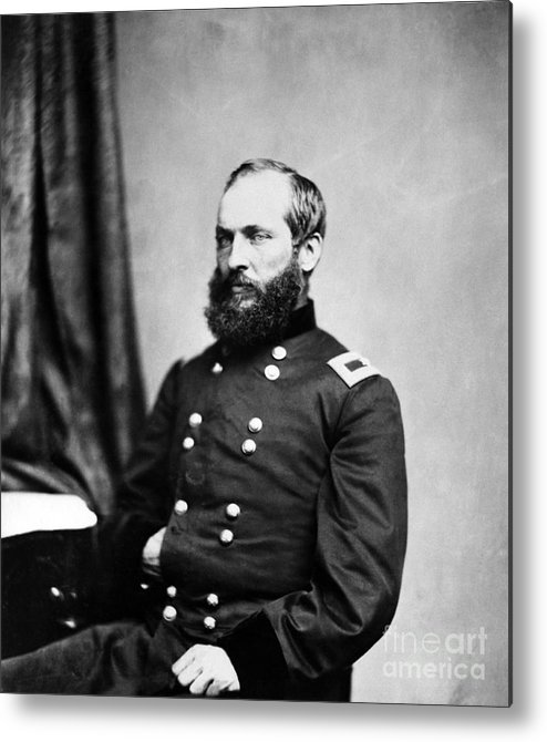 Government Metal Print featuring the photograph Major General Garfield, 20th American by Chicago Historical Society