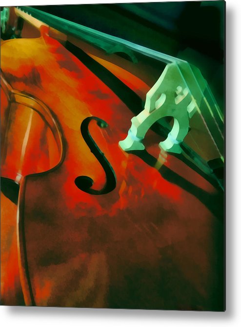 Bass Metal Print featuring the painting Strings by Naman Imagery