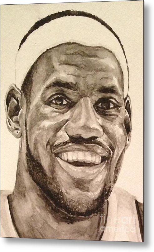 Lebron James Metal Print featuring the painting Lebron James by Tamir Barkan