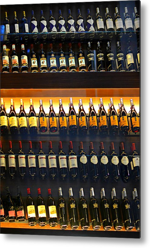 Wine Metal Print featuring the photograph Vino by Laura Fasulo