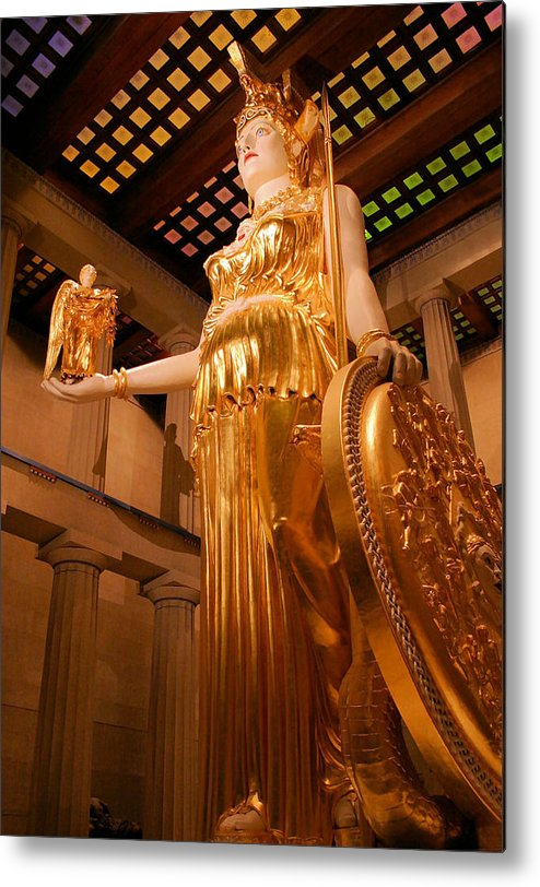 Athena Metal Print featuring the photograph Athena With Nike by Kristin Elmquist