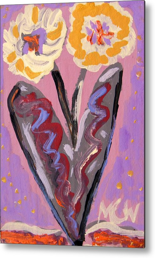 Flowers Metal Print featuring the painting For Kensington Double Yellow by Mary Carol Williams