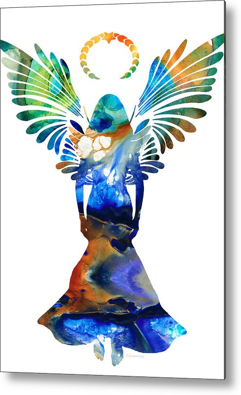 Guardian Metal Print featuring the painting Healing Angel - Spiritual Art Painting by Sharon Cummings