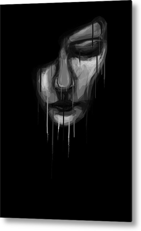 Face Metal Print featuring the digital art Into The Melting Pot by Aiden Galvin