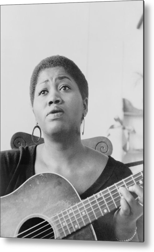 History Metal Print featuring the photograph Odetta Holmes 1930-2008, African by Everett