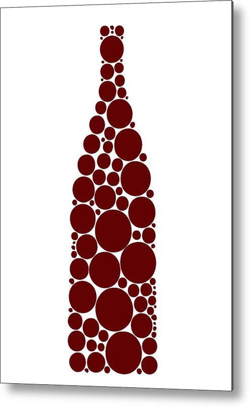 Wine Metal Print featuring the painting Red Wine Bottle by Frank Tschakert