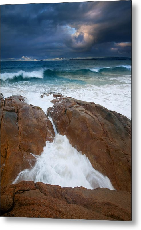 Waves Metal Print featuring the photograph Surfs Up by Mike Dawson