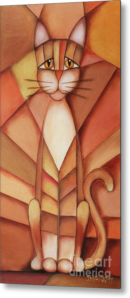 Paint Metal Print featuring the painting King Of The Cats by Jutta Maria Pusl
