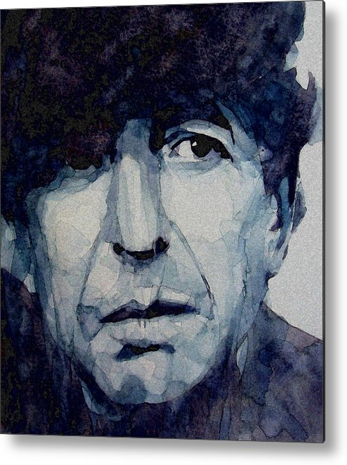 Leonard Cohen Metal Print featuring the painting Famous Blue Raincoat by Paul Lovering