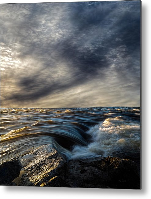Nature Metal Print featuring the photograph Where The River Kisses The Sea by Bob Orsillo
