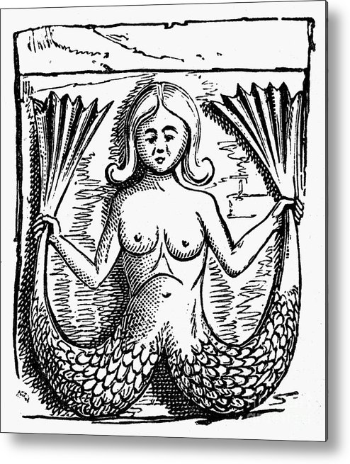 Ancient Metal Print featuring the photograph Mythology: Mermaid by Granger