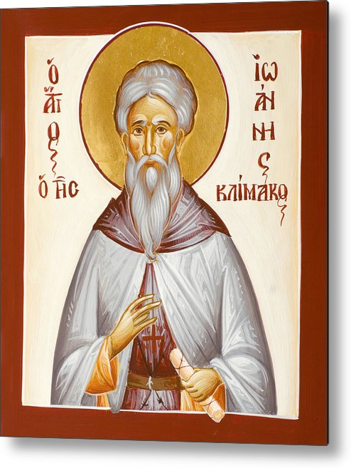 St John Climacus Metal Print featuring the painting St John Climacus by Julia Bridget Hayes