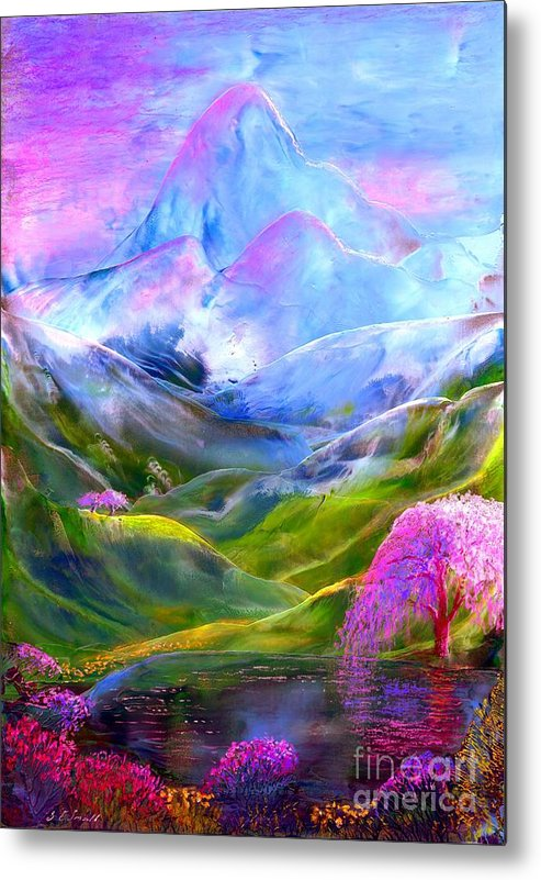 Mountain Metal Print featuring the painting Blue Mountain Pool by Jane Small