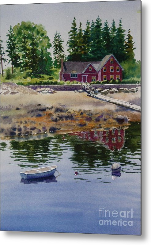 Pine Trees Metal Print featuring the painting Newagen Dingy by Karol Wyckoff