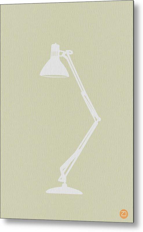 Lamp Metal Print featuring the drawing Desk Lamp by Naxart Studio