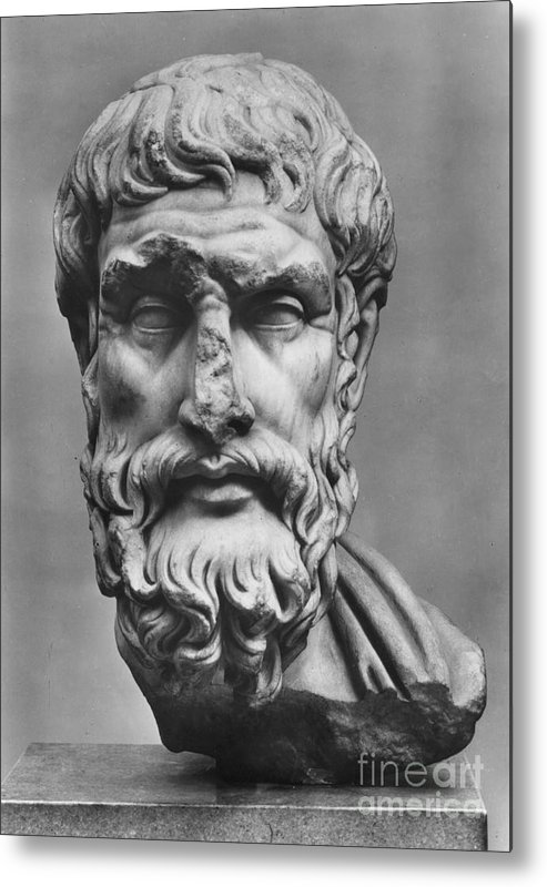 3rd Century B.c Metal Print featuring the photograph Epicurus (342?-270 B.c.) by Granger