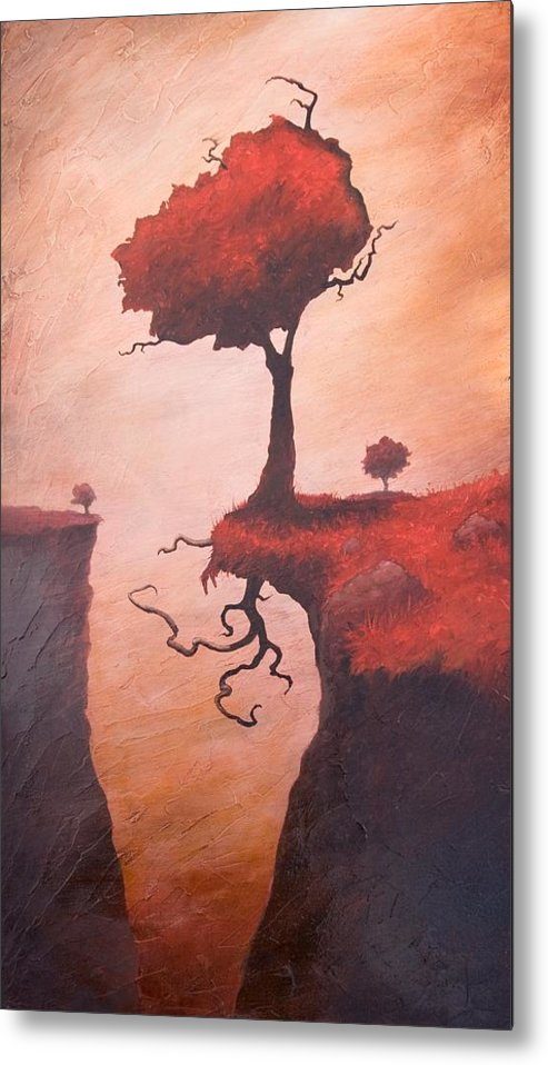 Woman Metal Print featuring the painting A Totem Of Will by Ethan Harris