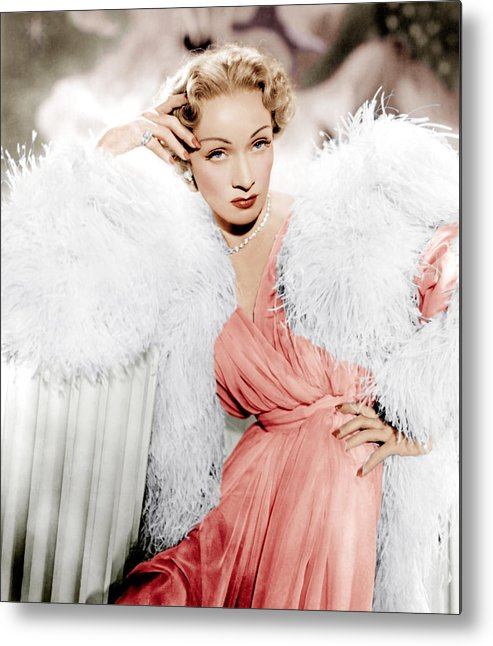 1950 Movies Metal Print featuring the photograph Stage Fright, Marlene Dietrich Wearing by Everett