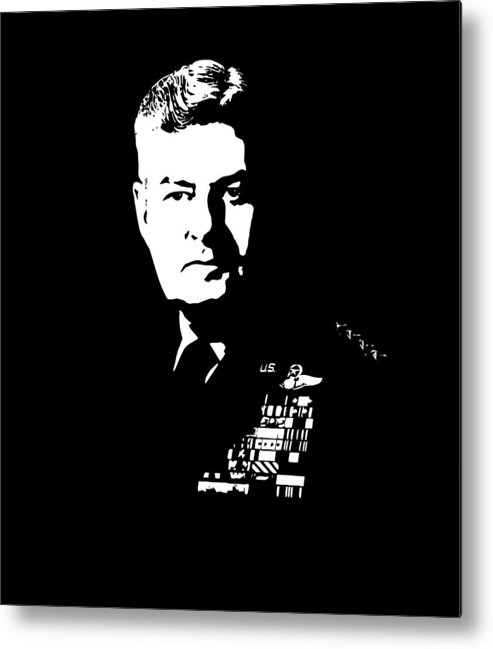 Curtis Lemay Metal Print featuring the digital art General Curtis Lemay by War Is Hell Store