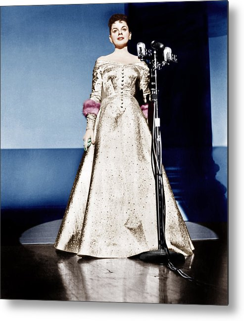 1950s Portraits Metal Print featuring the photograph A Star Is Born, Judy Garland, 1954 by Everett