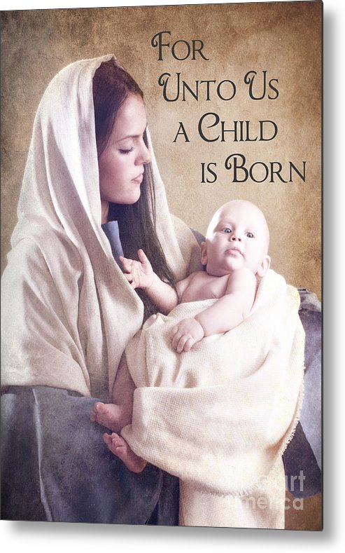 Mary Metal Print featuring the photograph Mary And Jesus by Cindy Singleton