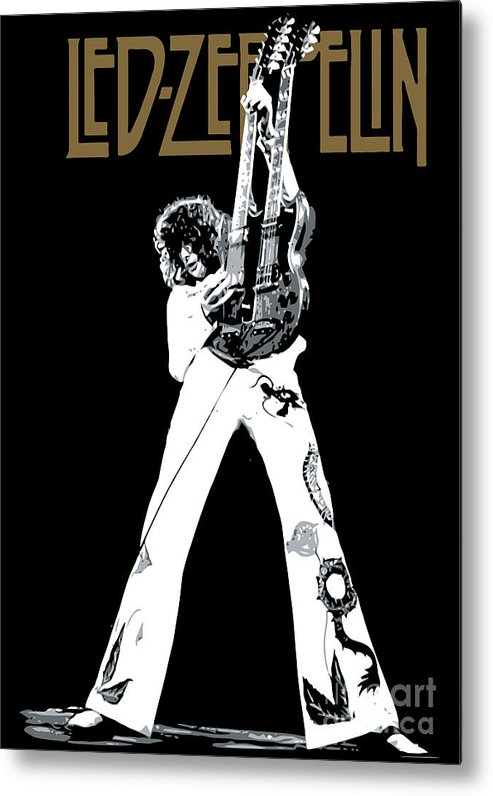 Led Zeppelin Metal Print featuring the digital art Led Zeppelin No.06 by Caio Caldas