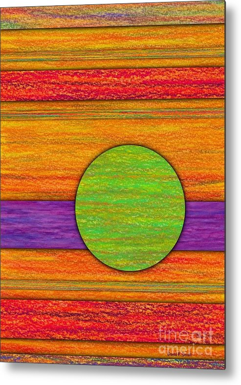 Colored Pencil Metal Print featuring the painting One Appeared by David K Small