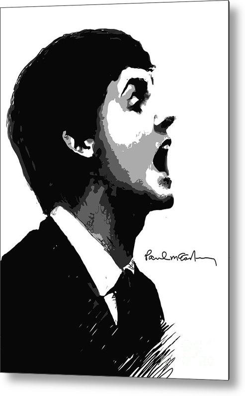 Paul Mccartney Metal Print featuring the digital art Paul Mccartney No.01 by Caio Caldas