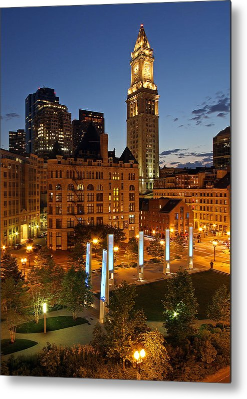 Boston Metal Print featuring the photograph The Custom House Of Boston by Juergen Roth