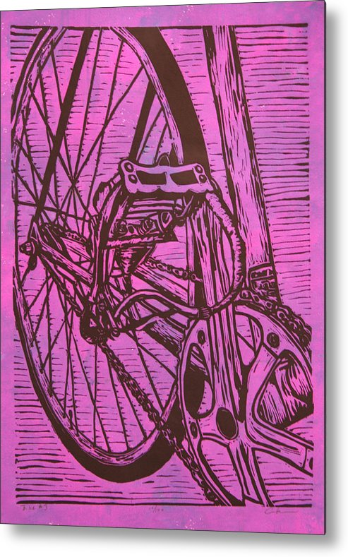 Bike Metal Print featuring the drawing Bike 3 by William Cauthern