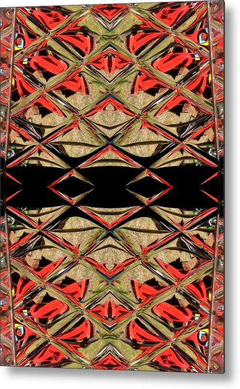 Red Metal Print featuring the ceramic art Lit0911001008 by Tres Folia