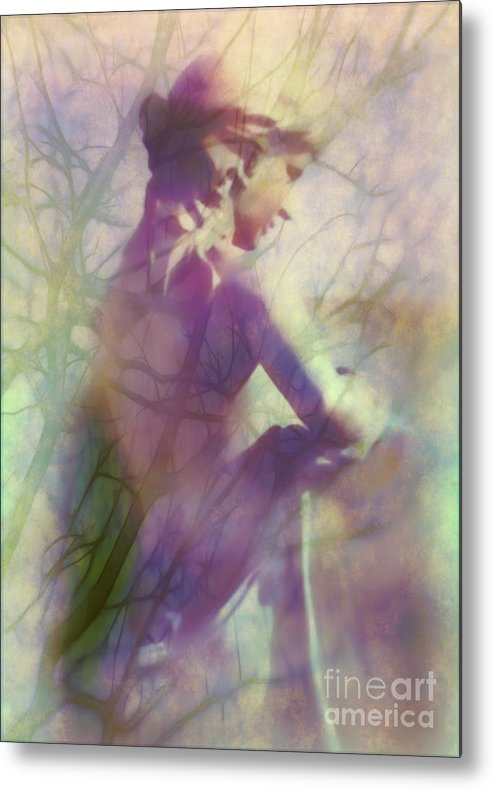 Statue Metal Print featuring the photograph Statue In The Garden by Judi Bagwell