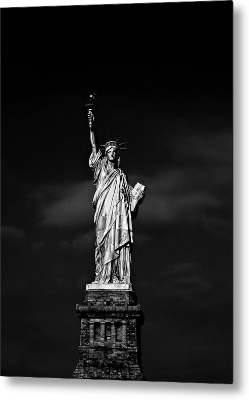 Ny Metal Print featuring the photograph Nyc Miss Liberty by Nina Papiorek
