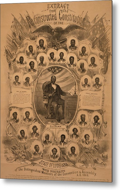 History Metal Print featuring the photograph 1868 Commemorative Photo Collage by Everett