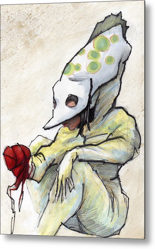 Grrl Metal Print featuring the painting Carnival Hat by Ethan Harris