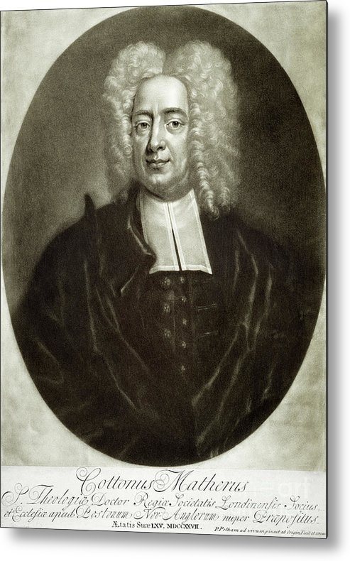 18th Century Metal Print featuring the drawing Cotton Mather 1663-1728 by Granger