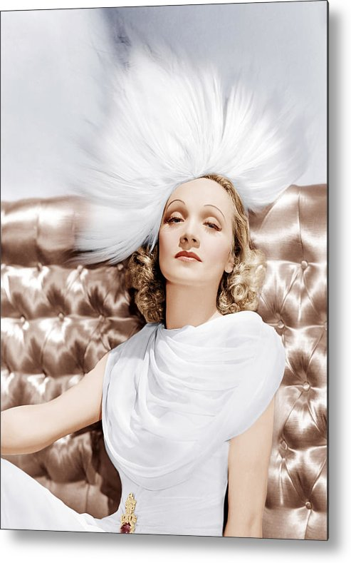 1930s Portraits Metal Print featuring the photograph Marlene Dietrich, Ca. 1930s by Everett
