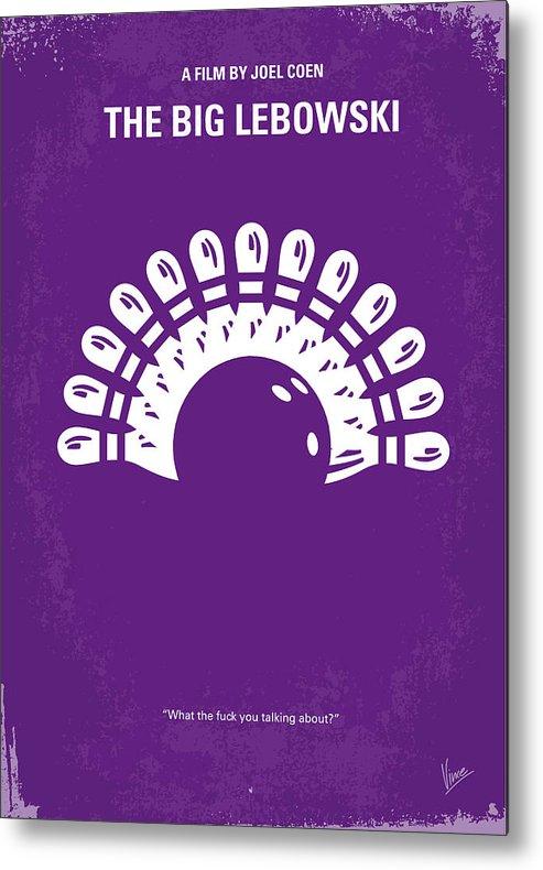 Big Metal Print featuring the digital art No010 My Big Lebowski Minimal Movie Poster by Chungkong Art