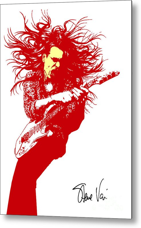 Steve Vai Metal Print featuring the digital art Steve Vai No.01 by Caio Caldas