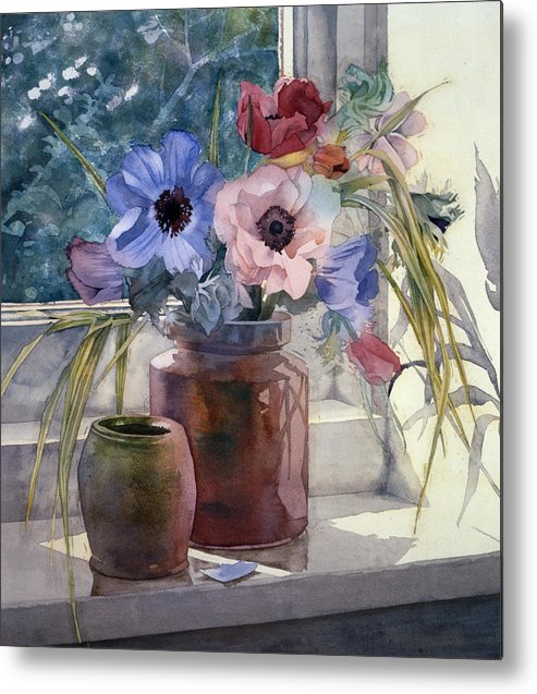 Julia Rowntree Metal Print featuring the photograph Anemones by Julia Rowntree