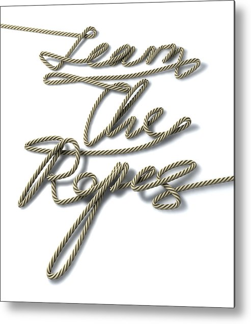 Guide Metal Print featuring the digital art Learn The Ropes Rope by Allan Swart