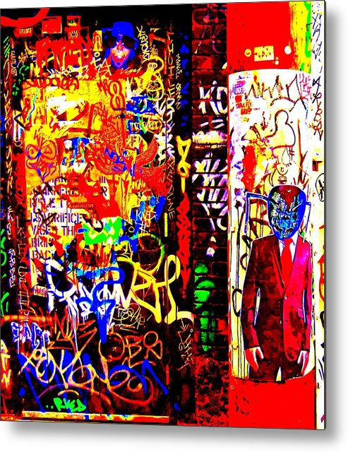 Street Art Metal Print featuring the digital art Alien Suit 2 by Randall Weidner
