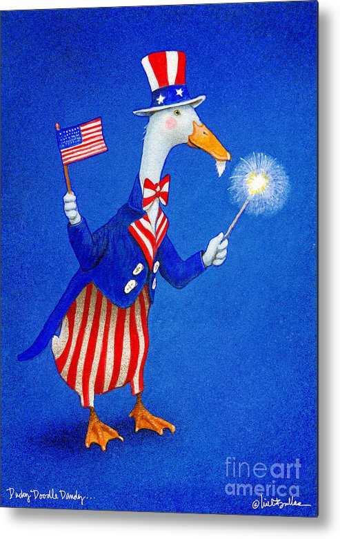 Will Bullas Metal Print featuring the painting Ducky Doodle Dandy... by Will Bullas