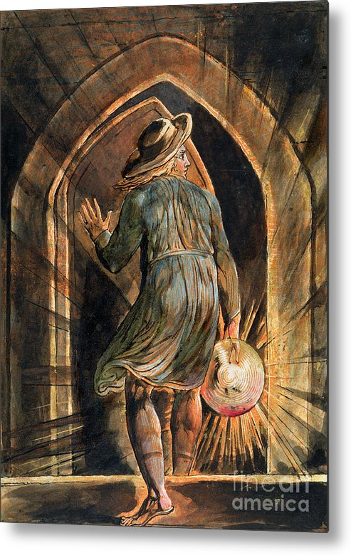 Front Page Metal Print featuring the painting Frontispiece To Jerusalem by William Blake