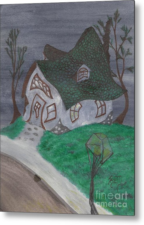 Gaslight Metal Print featuring the painting Gaslight Whimsy by Robert Meszaros