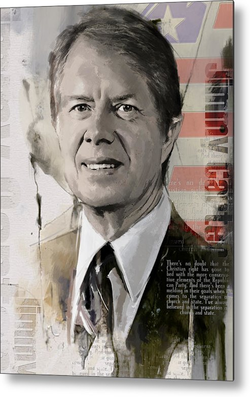 Jimmy Carter Metal Print featuring the painting Jimmy Carter by Corporate Art Task Force