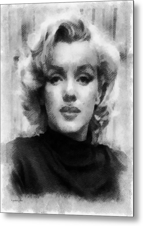 Marilyn Munroe Metal Print featuring the painting Marilyn by Patrick OHare