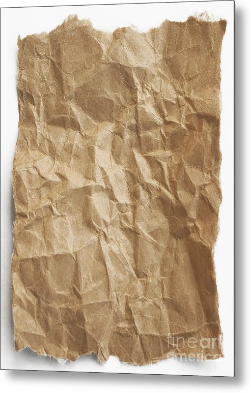 Paper Metal Print featuring the photograph Brown Paper by Blink Images